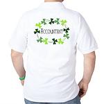 Accountant Shamrock Oval Golf Shirt