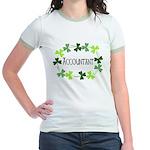Accountant Shamrock Oval Jr. Ringer T-Shirt