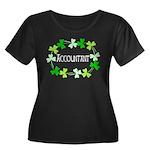 Accounta Women's Plus Size Scoop Neck Dark T-Shirt