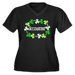 Accountant S Women's Plus Size V-Neck Dark T-Shirt