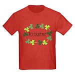 Accountant Shamrock Oval Kids Dark T-Shirt