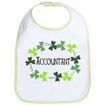 Accountant Shamrock Oval Bib