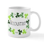 Accountant Shamrock Oval Mug