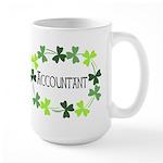Accountant Shamrock Oval Large Mug