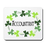 Accountant Shamrock Oval Mousepad