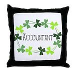 Accountant Shamrock Oval Throw Pillow