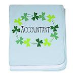 Accountant Shamrock Oval baby blanket