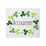 Accountant Shamrock Oval Throw Blanket