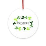 Accountant Shamrock Oval Ornament (Round)