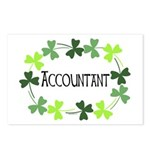 Accountant Shamrock Oval Postcards (Package of 8)