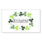 Accountant Shamrock Oval Sticker (Rectangle 10 pk)