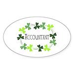 Accountant Shamrock Oval Sticker (Oval)