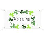 Accountant Shamrock Oval Banner