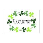 Accountant Shamrock Oval Mini Poster Print