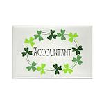 Accountant Shamrock Ov Rectangle Magnet (100 pack)