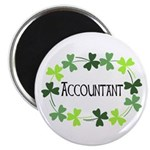 Accountant Shamrock Oval Magnet