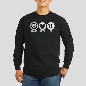 Peace Love Pi Long Sleeve Dark T-Shirt