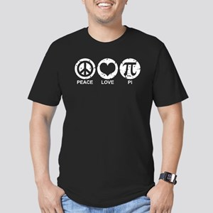 Peace Love Pi Men's Fitted T-Shirt (dark)