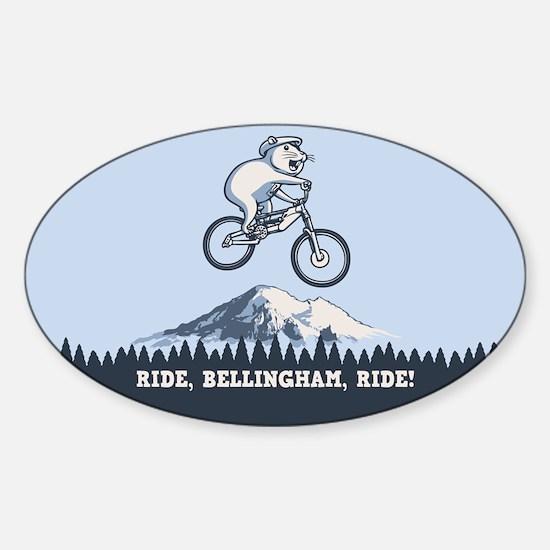 Ride, Bellingham, Ride! Sticker (Oval)