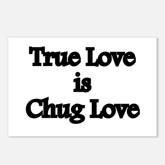 True Love Chug Love Postcards (Package of 8)