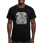 Think viruses... Men's Fitted T-Shirt (dark)