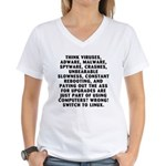 Think viruses... Women's V-Neck T-Shirt