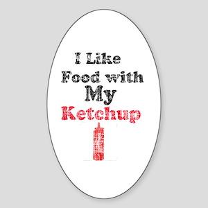 Vintage Ketchup Humor 1 Sticker (Oval)