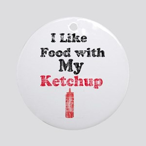 Vintage Ketchup Humor 1 Ornament (Round)