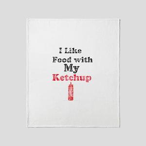 Vintage Ketchup Humor 1 Throw Blanket