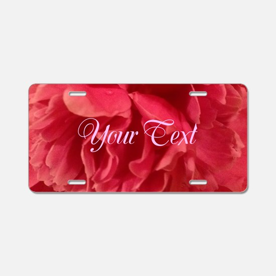 Cute Warriors in pink Aluminum License Plate