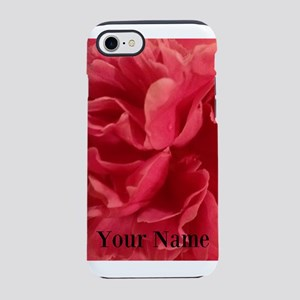 Personalized Pink Peony iPhone 7 Tough Case