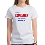 Remember the Election 2-sided Women's T