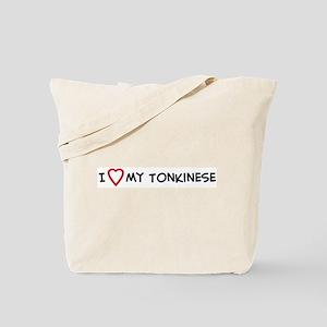 I Love My Tonkinese Tote Bag