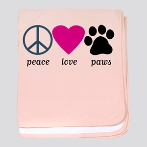 Peace Love Paws baby blanket