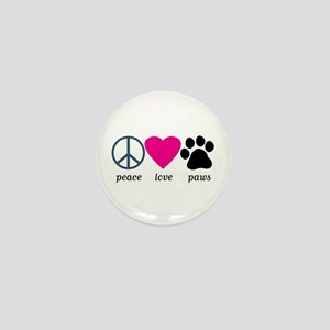 Peace Love Paws Mini Button