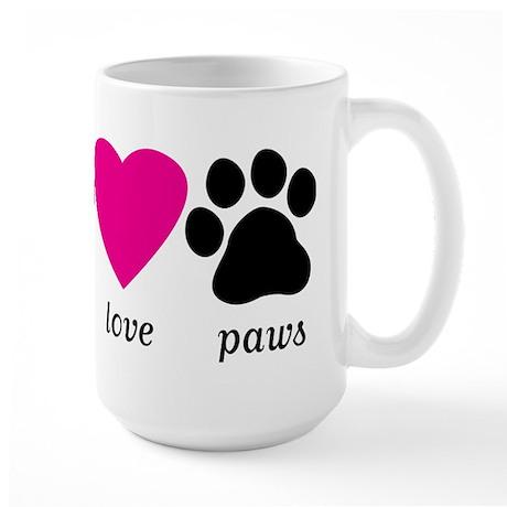 Peace Love Paws Large Mug