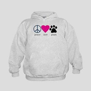 Peace Love Paws Kids Hoodie