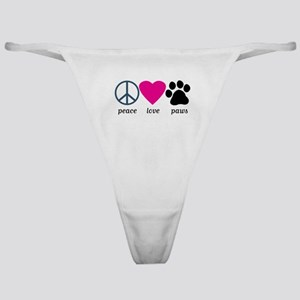 Peace Love Paws Classic Thong
