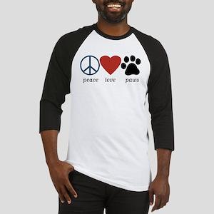 Peace Love Paws Baseball Jersey