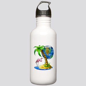 Flamingo Earth Palm Stainless Water Bottle 1.0L