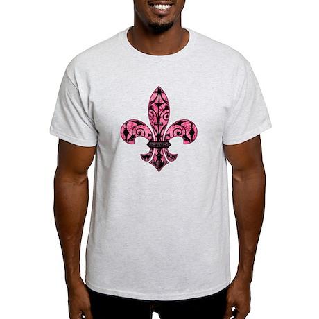 Pink Grunge Fleur Light T-Shirt
