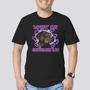 Chocolate Lab Lovin' Men's Fitted T-Shirt (dark)