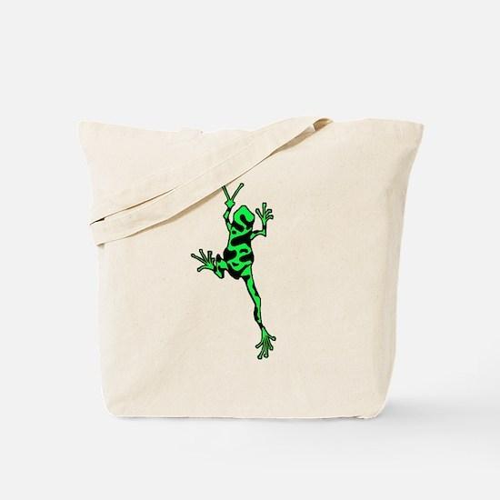 Frog Peace (Green) Tote Bag