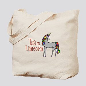Team Unicorn Rainbow Tote Bag