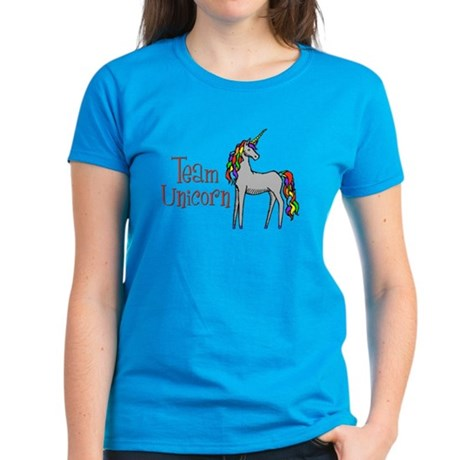Team Unicorn Rainbow Women's Dark T-Shirt
