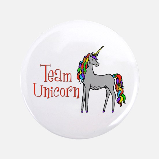 "Team Unicorn Rainbow 3.5"" Button"