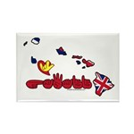 ILY Hawaii Rectangle Magnet (10 pack)