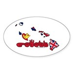ILY Hawaii Sticker (Oval 10 pk)