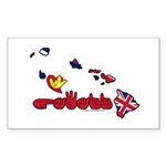 ILY Hawaii Sticker (Rectangle 10 pk)