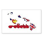 ILY Hawaii Sticker (Rectangle 50 pk)